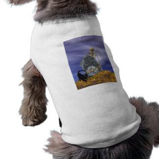 Skeleton and Grave Stone Doggie Tee Shirt