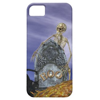 Skeleton and Grave Stone iPhone 5 Cover