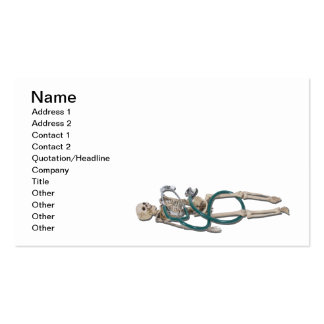 Skeleton and Stethoscope Business Card