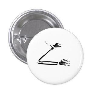 Skeleton Arm Pinback Button