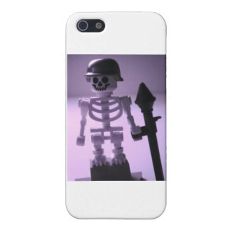 Skeleton Army Custom Minifigure Helmet & Bazooka Case For iPhone SE/5/5s