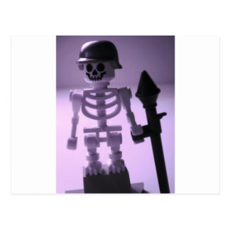 Skeleton Army Custom Minifigure Helmet & Bazooka Postcard