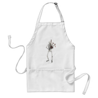 Skeleton Bagpipe Player Adult Apron