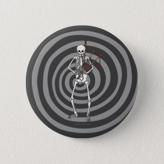 Skeleton Bagpipe Player Button