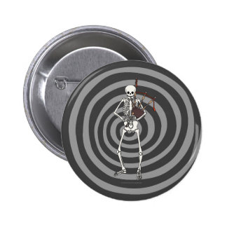 Skeleton Bagpipe Player 2 Inch Round Button