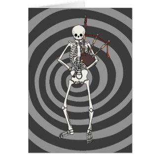 Skeleton Bagpipe Player Card
