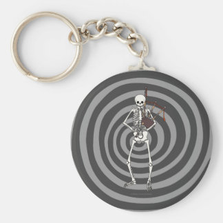 Skeleton Bagpipe Player Keychain