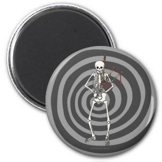 Skeleton Bagpipe Player Refrigerator Magnets
