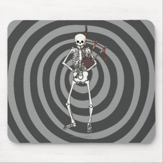Skeleton Bagpipe Player Mouse Pad