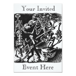 Skeleton band invitation