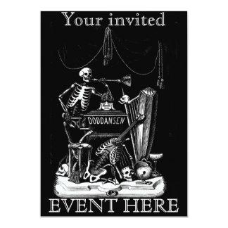 "skeleton band invitation 5"" x 7"" invitation card"