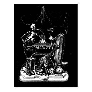 skeleton band vintage postcard