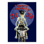 Skeleton biker 30th birthday card