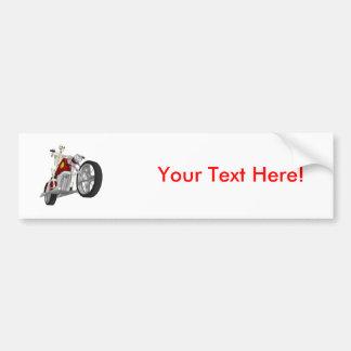 Skeleton Biker / Bike Rider: 3D Model: Bumper Sticker