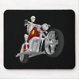 Skeleton Biker / Bike Rider: 3D Model: Mouse Pad