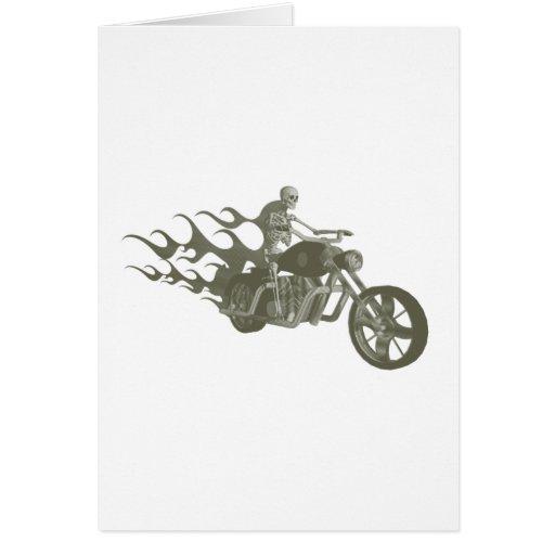 Skeleton Biker / Bike Rider: Card