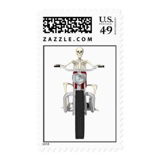 Skeleton Biker / Bike Rider: Postage Stamps