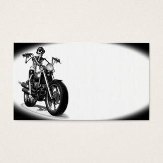 Skeleton Biker Business Card