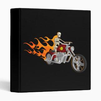 Skeleton Biker & Flames: Custom Binder