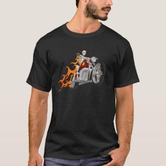 Skeleton Biker & Flames: T-Shirt