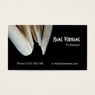 Skeleton bone business card