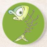 Skeleton Bone Fish Drink Coaster