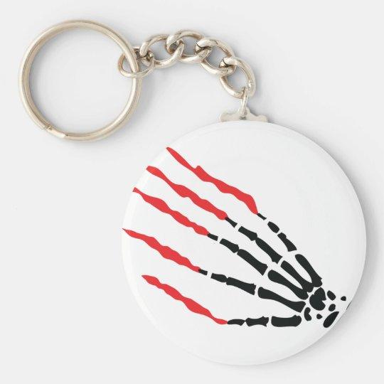 skeleton bone hand bloody scratches keychain