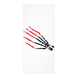 skeleton bone hand bloody scratches rack cards