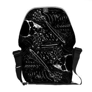 Skeleton Bones Courier Bag