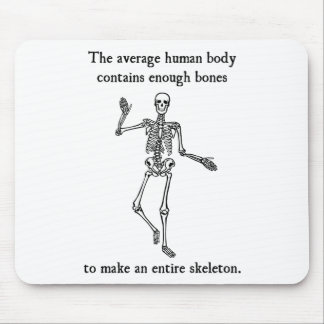 Skeleton Bones in the Average Human Body Mouse Pad
