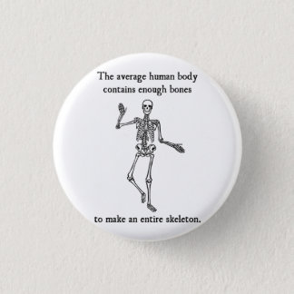 Skeleton Bones in the Average Human Body Pinback Button