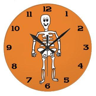 Skeleton Bones Large Clock