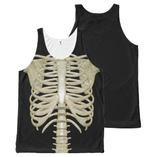 Skeleton Bones Rib Cage Halloween Party Costume All-Over-Print Tank Top