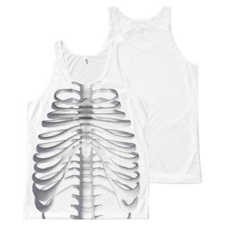 Skeleton Bones Ribcage Tank Top