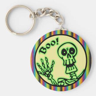 Skeleton Boo Halloween Keychain