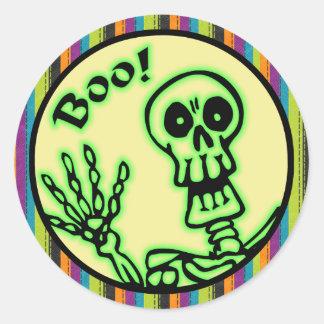 Skeleton Boo Halloween Stickers