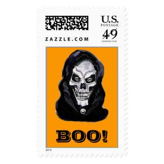 Skeleton BOO! Postage