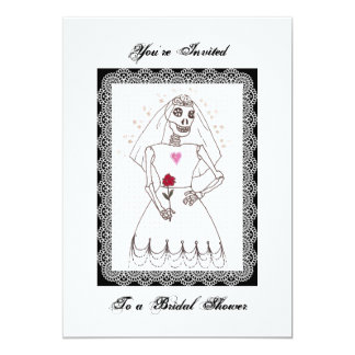 Skeleton Bridal Shower Invitation
