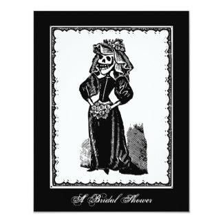 "Skeleton Bride (Bridal Shower) - Invitation 4.25"" X 5.5"" Invitation Card"