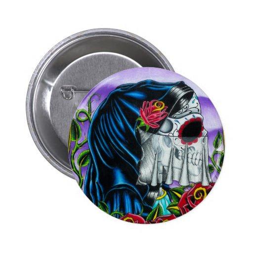 Skeleton Bride Pinback Buttons