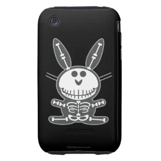 Skeleton Bunny iPhone 3 Tough Case