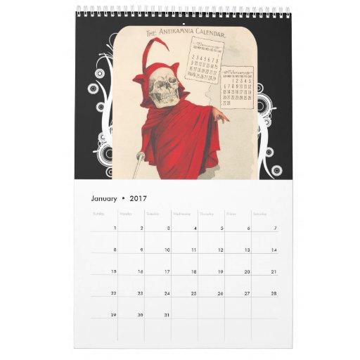 Skeleton Calendar 2011 - Antikamnia by Crucius