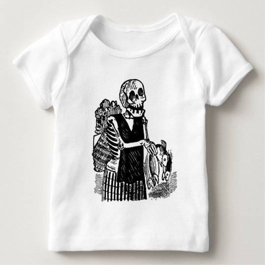 """""""Skeleton carrying Fish"""" circa early 1900's Baby T-Shirt"""