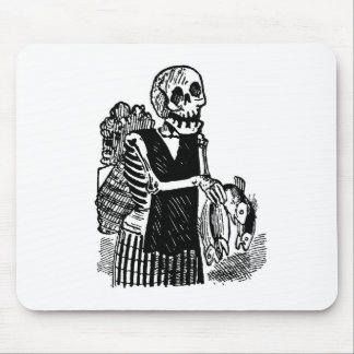 """""""Skeleton carrying Fish"""" circa early 1900's Mouse Pad"""