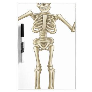 Skeleton Cartoon Waving Hands Dry Erase Board