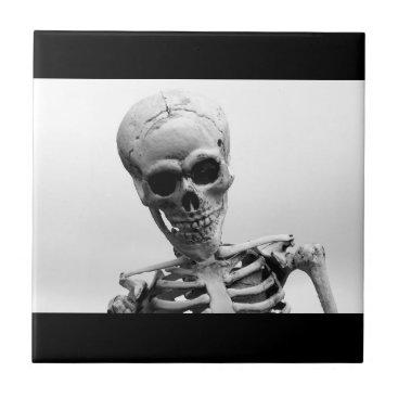 Halloween Themed Skeleton Ceramic Tile