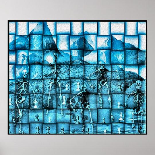 Skeleton Chess Poster