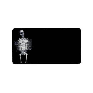 Skeleton Chest Xray Black Address Labels