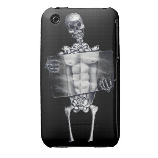 Skeleton Chest Xray iPhone 3G/3GS BarelyThere Case