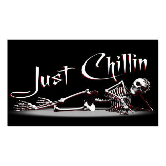 Skeleton Chillin Double-Sided Standard Business Cards (Pack Of 100)